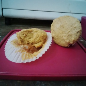 Double apple muffin
