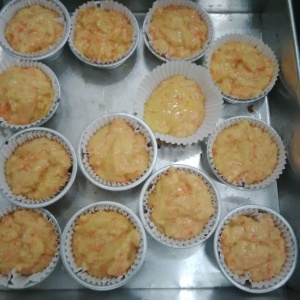 Carrot muffin siap dioven